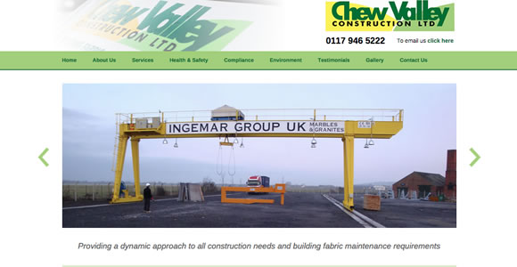 New website launch for Chew Valley Construction
