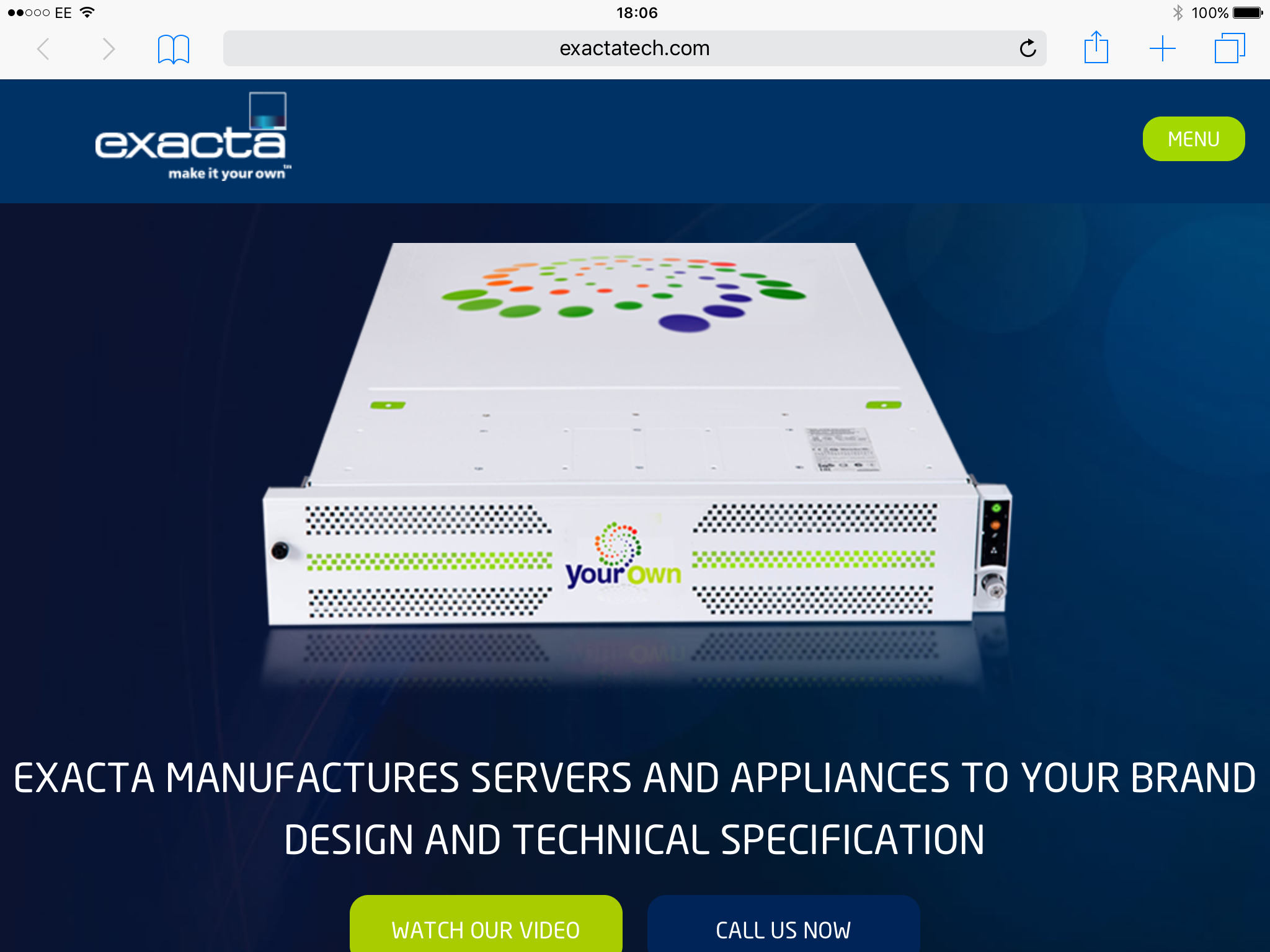 Awesome new website launched for Exacta Technologies